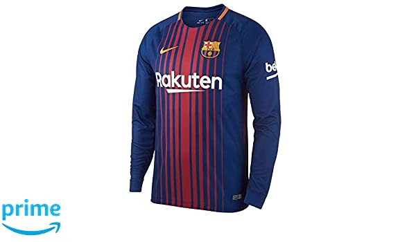 0bb28de94 Nike 2017-2018 Barcelona Home Long Sleeve Shirt  Amazon.co.uk  Sports    Outdoors