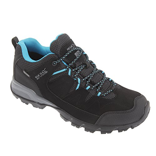 Regatta - Lady Holcombe Low, Scarpe da Arrampicata Basse Donna Black (Black/Methyl)