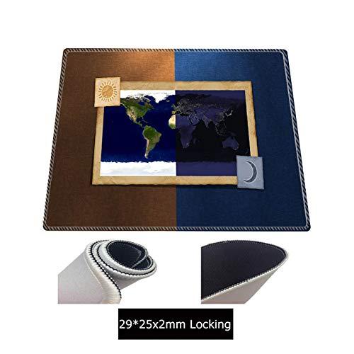 JUMOQI Vintage Große Alte Welt Karte Spiel Mauspad Matte Laptop Gaming Mousepad Gummi Mauspads Gamer Fashion Schreibtisch Pad, 400X800X3Mm