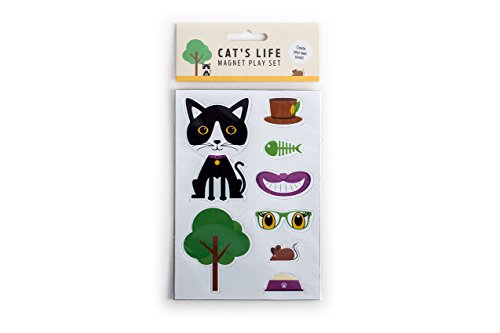 Magnet & Stahl Magnet Katze Pack, Metall, Mehrfarbig, 11 x 0,2 x 16 cm