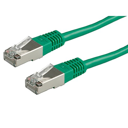 Männliche Ethernet-rj-45-kabel (ROLINE LAN Kabel mit Ethernet   Netzwerkkabel RJ 45   Cat 5e S/FTP   Grün 15 m)