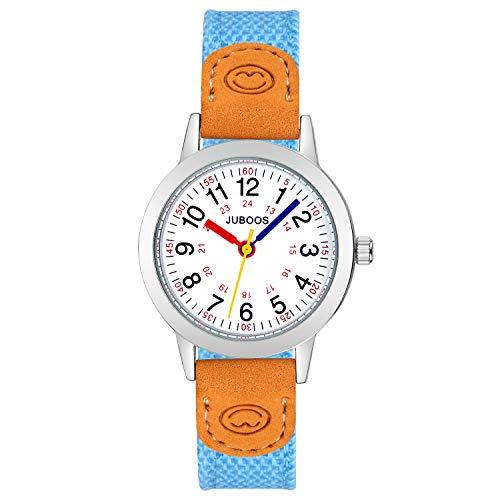 Kinder Analog Uhren Armbanduhr für Jungen Mädchen, wasserdichte Quarzuhr Uhren für Kinderuhr Mädchen (Blau)
