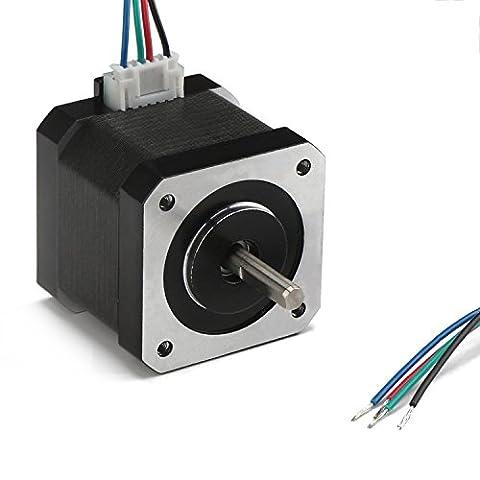 DROK® Moteur pas à pas Nema 17 Bipolaire 40mm 2 phases, 64oz.in (0.46 N · m) Moteur pas à pas de machine de découpage de couple élevé, accessoire pour l'imprimeur 3D / machines de textile / équipement médical