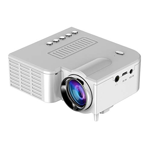 Mini Beamer, 500 Lumen Video Projektor, Full HD 1080P, tragbarer Filme, HD LED Multimedia-Projektor für Heimkino, kompatibel mit HDMI, VGA, USB, AV, SD, Laptop, Smartphone Film-projektor