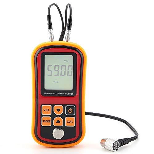 Digitales Ultraschall-Dickenmessgerät, Vorderseite Wal, GM100 Orange Prüfmonitor mit 1,2-220 mm Stahlbreite für Genaue Messungen (Keine Batterie Enthalten)