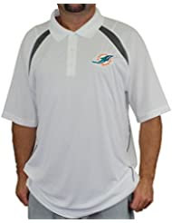 """Miami Dolphins Majestic NFL """"Winners"""" Men's Short Sleeve Polo Shirt Chemise"""