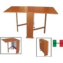 Susana - Mesa consola plegable, madera de cerezo