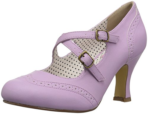 Pin up Couture FLAPPER-35 Lavender Faux Leather UK 6 (EU 39) Couture Schuhe Heels