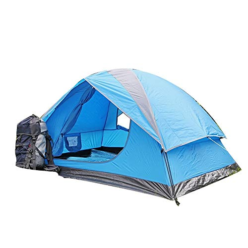 DIAOSI Outdoor-Zelt Single Layer Wasserdichter UV-Schutz Tragbares Campingzelt, Blau