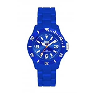 Ice Watch - CS.BE.S.P.10 - Classic Solid - Montre Femme - Quartz Analogique - Cadran Bleu - Bracelet Plastique Bleu - Petit Modèle