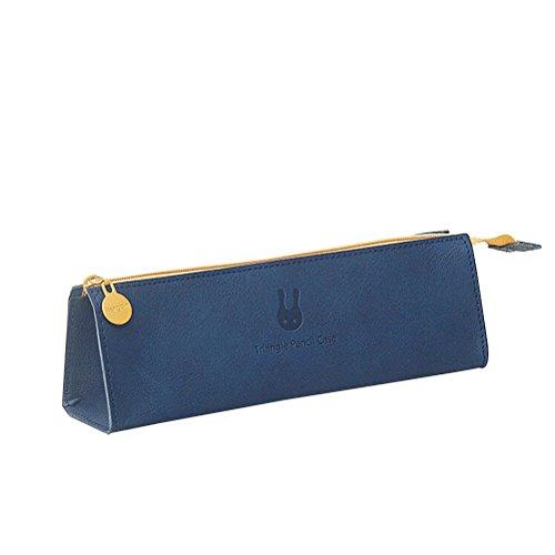 NUOLUX triángulo cremallera Lápiz bolsa Bolso Porta lápiz simple bolsa pluma color puro para los efectos de escritorio…