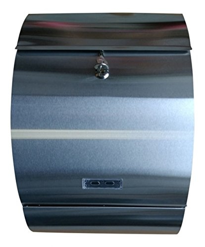 Briefkasten XL Letter - Box - Silber Briefkasten Sichtfenster Namensschild extra Tief Neu Jet-Line mit Zeitungsfach