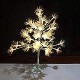 TOOSD Bonsai-Baum beleuchtet Kirschblüten-Tischlampe, Weihnachtsbaum-Lichter LED-Märchen-Baumzweig beleuchtet Familientreffen, Hochzeit, Partei, Feiertags-Weihnachten,White