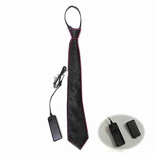D Leuchtende Krawatte für Männer (ohne Batterie) - Lila, 45x8cm ()