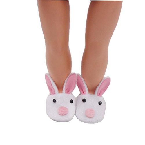 Schuhe 45,7cm, günstige American Girl Puppen Tier Plüsch Hausschuhe vneirw, weiß (Wirklich Günstige Perücken)