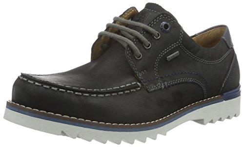 Fretz Men Lee, Chaussures à Lacets Homme Noir - Schwarz (51 Noir)