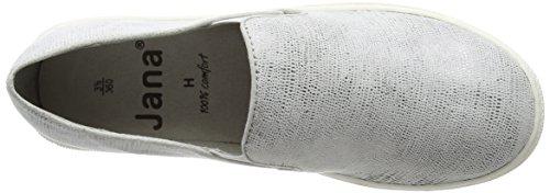 Jana Ladies 24623 Slipper White (bianco Con Stru 193)
