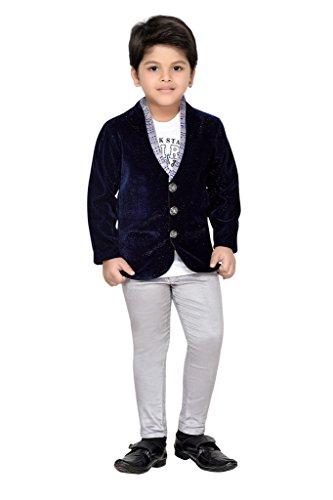 AJ Dezines Kids Party Wear Coat Suit Set For Baby Boys (698_GREY_1)