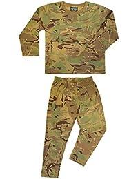 Kids Army Military Camouflage 100% Cotton Pyjamas Set Pjs Nightwear Sleepwear