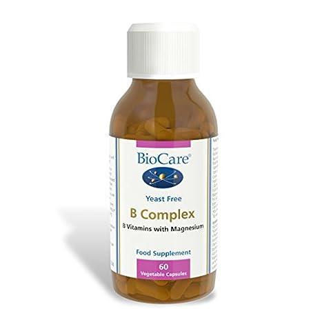 Biocare B Complex (enzyme activated plus magnesium), 60 vegi bouchons