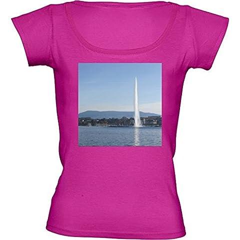 Camiseta Cuello Redondo para Mujer - Ginebra 2 by Cadellin