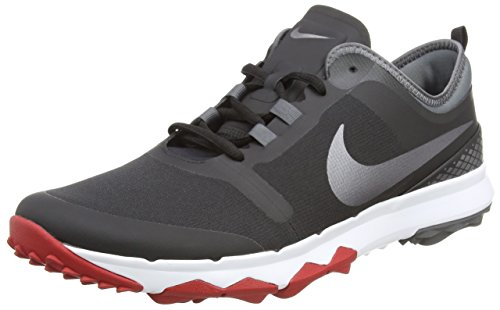 Nike Herren FI Impact 2 Golfschuhe, Schwarz (Negro/Gris Oscuro/Rojo 007), 46 EU