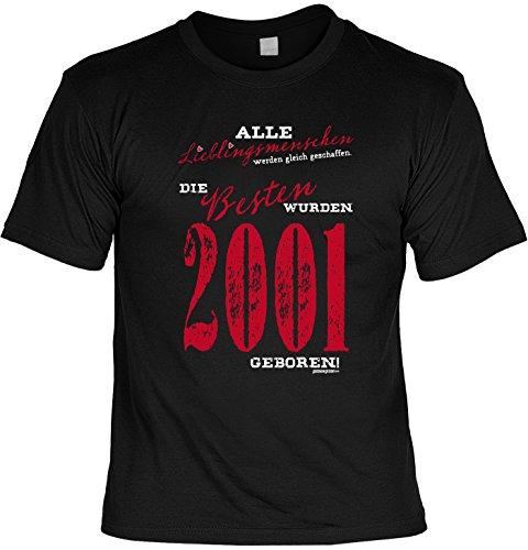 T-Shirt zum Geburtstag: Alle Lieblingsmenschen werden gleich geschaffen. Die Besten wurden 2001.. - Tolle Geschenkidee - Baujahr 2001 - Farbe: schwarz Schwarz
