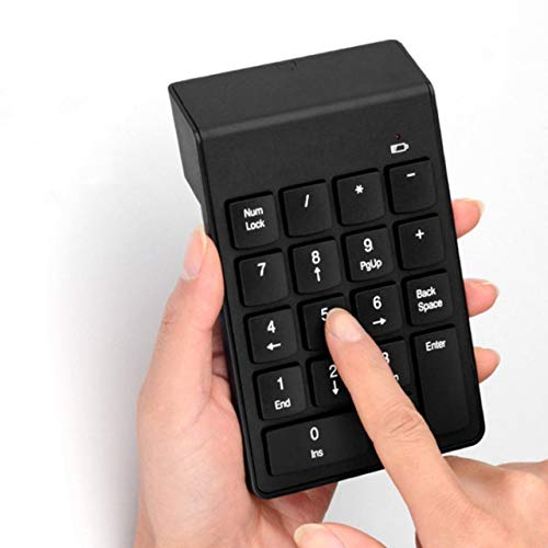Jasnyfall 2.4G Wireless USB Key Number Pad Numeric Keypad Accounting Mini Keyboard-Color:Black