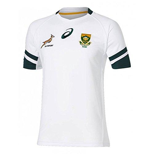 Asics Springboks AWAY RUGBY SHIRT, Weiß, M (Shirt Rugby Away)