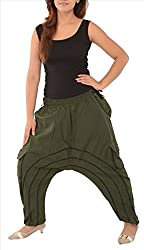 Skirts & Scarves Womens Cotton Afghani Yoga/Harem Pant/Pajama (Green)