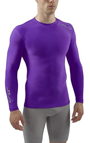 Sub sports, maglia termica di compressione uomo, viola (lila), m