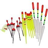 Generic Set of 15 Plastic Pole Fishing Floats Slip Drift Tube Indicator Assorted Sizes