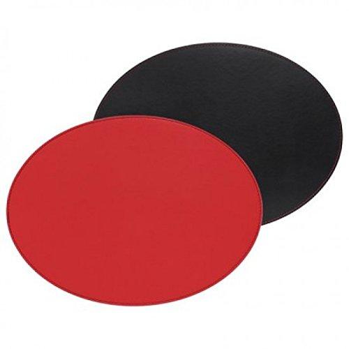 Set de table ovale FREEFORM réversible rouge et noir