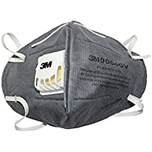 3M 9004GV Anti-pollution Mask with easy exhalation valve, Grey, Pack of 2