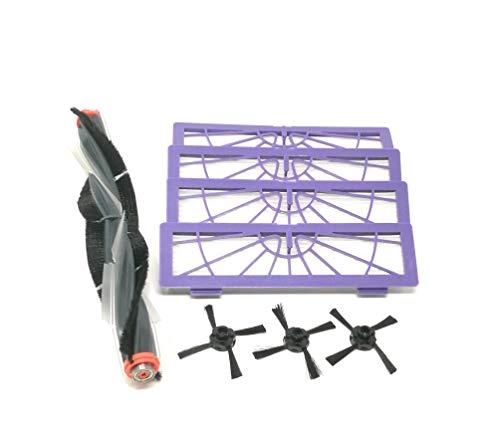 Kniwelshop Kit d'entretien Brosse combinée + 3 filtres + 3 brosses latérales pour robot aspirateur Neato de la série Botvac (70 70e 75 80 85)