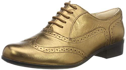 Clarks Damen Hamble Oak Derbys, Silber Bronze Metallic, 38 EU