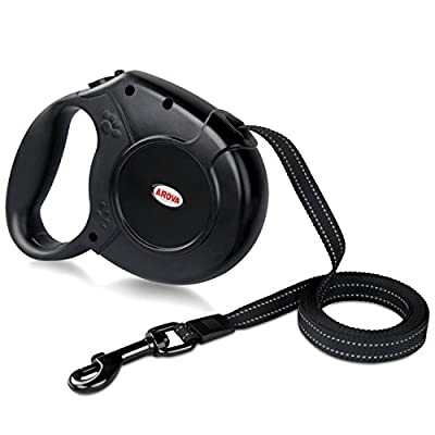 AROVA Dog Lead Retractable, 5M Extendable Dog/Pet Leads/Leash for Small Medium Large Dogs Up to 50 KG with One Button&Lock System,Retractable Pet Leash Dog Lead for Dogs To Training, Walking, Jogging by AROVA