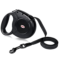 AROVA Dog Lead Retractable, 5M Extendable Dog/Pet Leads/Leash for Small Medium Large Dogs Up to 50 KG with One Button&Lock System,Retractable Pet Leash Dog Lead for Dogs To Training, Walking, Jogging