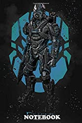 """Notebook: Person Shooter Developed By 343 Indus Halo 4 Is A First , Journal for Writing, College Ruled Size 6"""" x 9"""", 110 Pages"""