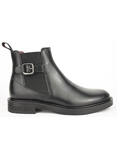 FRAU 96P2 nero scarpe donna stivaletti tronchettI beatles fibbia pelle