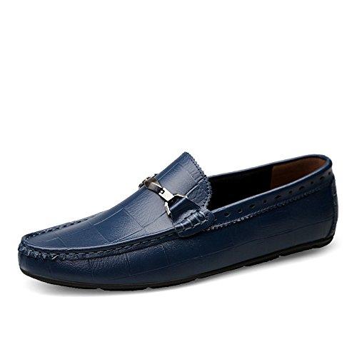 Sunny&Baby Herren Driving Mokassins Beleg auf Loafers Bequeme Casual Driving Schuhe für Männer Anti-Rutsch (Color : Marine, Größe : 41 ()