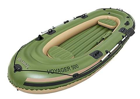 Bestway Voyager 500 Boot Set mit 2 Alu-Paddeln, 348 x 141 cm