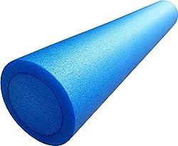 mediparts GmbH MEDDAX Pilates Rolle, Pilatesrolle Faszienrolle 15 x 90 cm Flexibler Hartschaum blau inkl. Profi Übungsposter