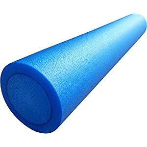ACHTUNG AKTION MARKTEINFÜHRUNG Mambo Max Pilates Rolle, Pilatesrolle Faszienrolle 15 x 90 cm flexibler Hartschaum blau inkl. Profi Übungsposter