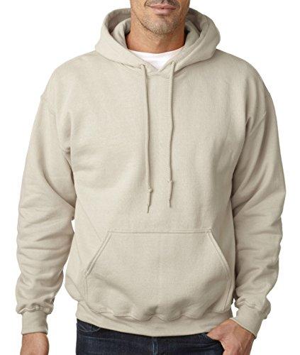 Gildan-Unisex Kapuzen-Sweatshirt Dick Kombination von Geweben Beige Sandfarben Medium - Gildan Hoodie Sweatshirt