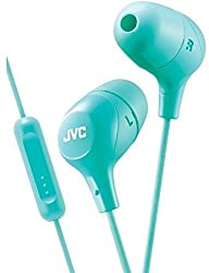 JVC HAFX38MG Marshmallow(R) Inner-Ear Headphones with Microphone (Green)