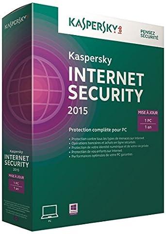 Kaspersky internet security 2015 - Renouvellement (1 poste, 1 an)
