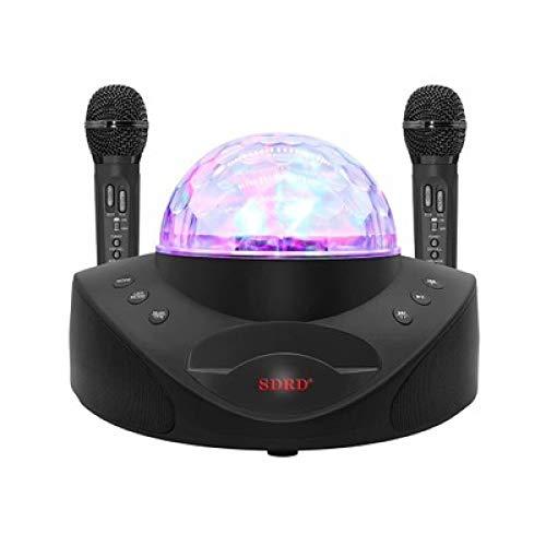 qiyan308 Heimmikrofon Audio integriert Doppelchor Bluetooth Handy Wireless Karaoke schwarz