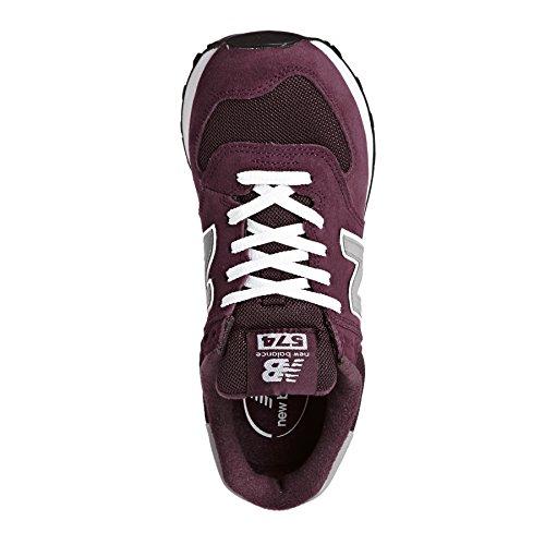 New Balance 574 Core, Scarpe da Ginnastica Uomo rosso vinaccia grigio