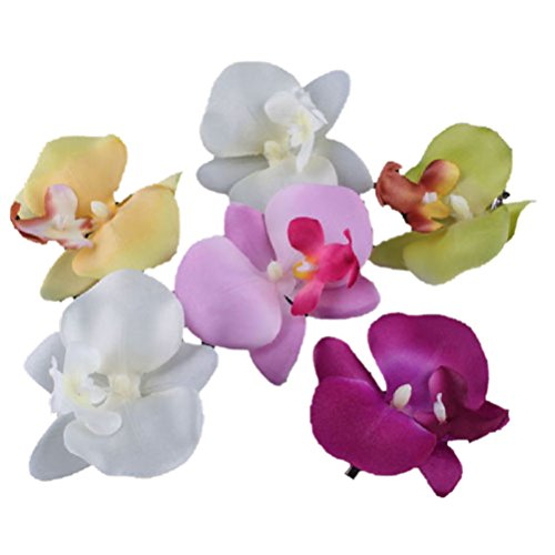 trod-orchid-flower-hair-clip-hairpin-bridal-hawaii-party-banguet-hairdressing-set-of-6